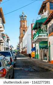Mazatlán, Mexico / Central America - January 24, 2008: Historical and architectural street buildings in Mazatlán
