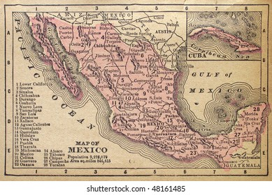 Mexico, circa 1880. See the entire map collection: http://www.shutterstock.com/sets/22217-maps.html?rid=70583