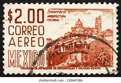 MEXICO - CIRCA 1971: a stamp printed in the Mexico shows Guerrero, View of Taxco, circa 1971