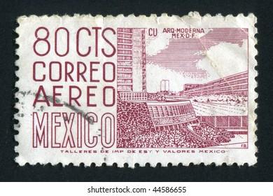 MEXICO - CIRCA 1974: Street of a modern city, circa 1974.