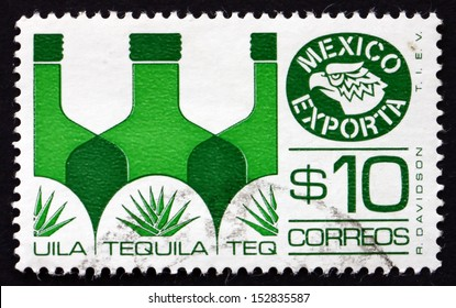 MEXICO - CIRCA 1978: a stamp printed in the Mexico shows Tequila, Mexican Export, circa 1978