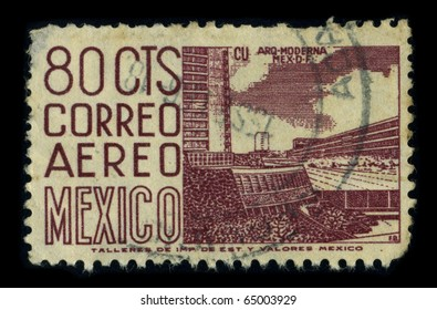 MEXICO - CIRCA 1980: A stamp printed in MEXICO shows image of the dedicated to the Architecture of Mexico, circa 1980.