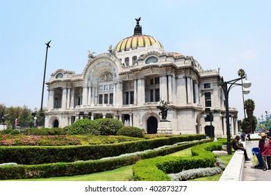 Mexico city - 08/04/2016 - Bellas Artes palace