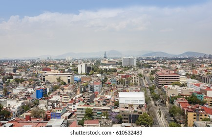 MEXICO CITY - 2nd MARCH 2017; Aerial view of Mexico City, Mexico