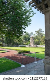 Mexico City, Mexico. April 2016. Chapultepec Castle is a palace located in Mexico City. This is a residence located high on Chapultepec Hill, in the middle of the Chapultepec Forest.