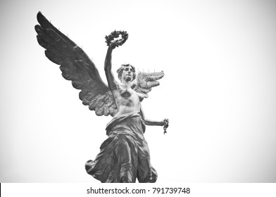 MEXICO CITY / MEXICO - April 2017: Independence angel statue located in Paseo de la Reforma avenue. This is one of the icons of Mexico City.