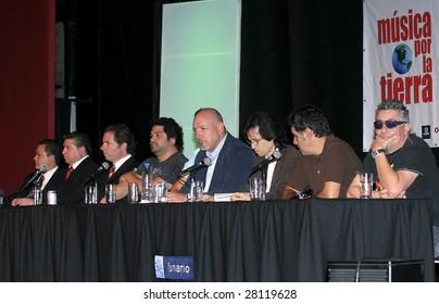 MEXICO CITY - APRIL 6: (L-R) Alberto Carrillo, Oscar Abraham Lopez, Agustin Pumarejo, Iguana and  Javier, Adolfo Garcia Minutti, Sergio, Arturo and Mauricio Claveria April 6, 2009 in Mexico City.