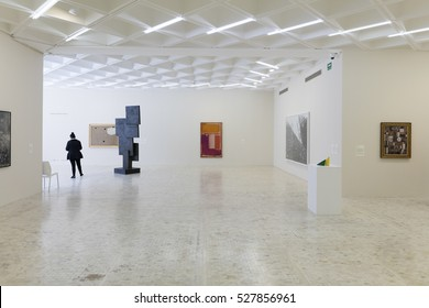 MEXICO CITY, MEXICO - AUG 28, 2016: Museo Rufino Tamayo is a contemporary art museum located in Mexico Citys Chapultepec Park, that produces innovative international contemporary art exhibitions.