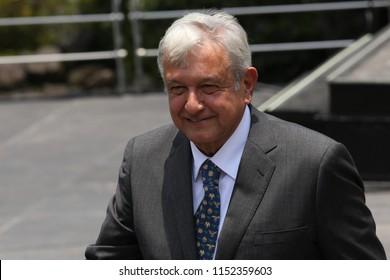 Mexico City, August 8 2018. Andrés Manuel López Obrador shows his constancy that endorses him as president of Mexico for the period 2018-2024.