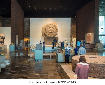 Mexico City, Central America, January 2018[The National Museum of Anthropology, anacient Aztec Mayan artifacts ]