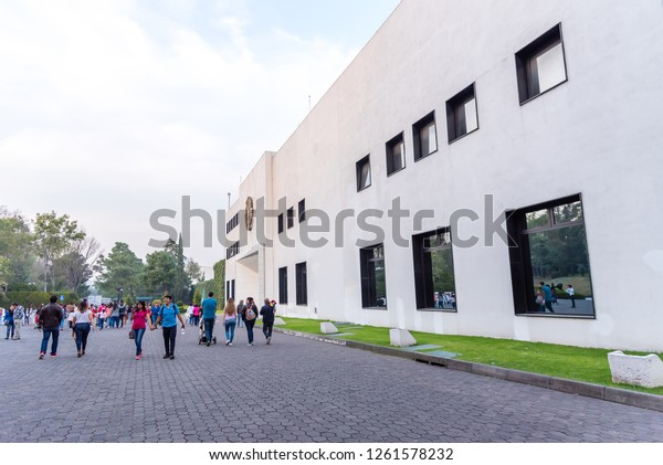 MEXICO CITY - MEXICO - CIRCA DECEMBER 2018: Residencia Oficial de Los Pinos, open to public, former house of the presidents of Mexico