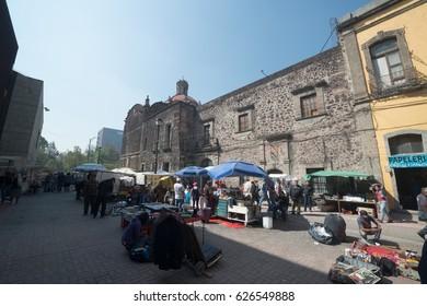 Mexico city, circa february 2017: City center of Mexico city