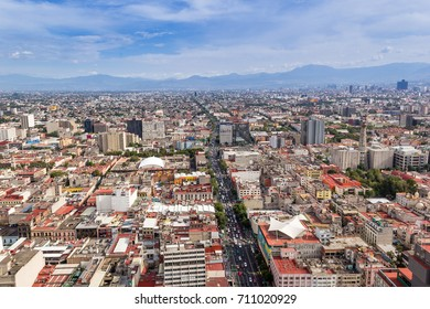 MEXICO CITY, MEXICO - CIRCA MAY 2013: Panoramic view of the second largest city in Latin America with more than 9 million inhabitants.