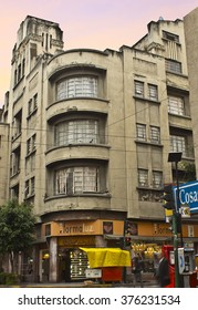 MEXICO CITY - FEB 12: HIstoric Art Deco style building on street downtown on February 12, 2016 in Mexico City, Mexico