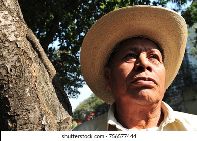 MEXICO CITY - FEB 27 2010: An old Mexican man portrait. According to the latest WHO data published in 2015 life expectancy in Mexico is: Male 73.9, female 79.5 and total life expectancy is 76.7