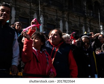 Mexico City, Mexico. February 13, 2016. Pope Francis visited Mexico. People went to the streets to see him passing by.