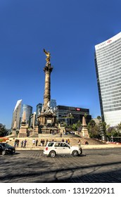 MEXICO CITY, MEXICO - FEBRUARY 2017 : Historical center in sunny weather, HDR image