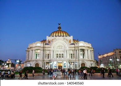 MEXICO CITY - FEBRUARY 3, 2013; The Palacio de Bellas Artes, pronounced artistic monument by UNESCO in 1987, is the premier opera house of Mexico on february 3, 2013 in Mexico City
