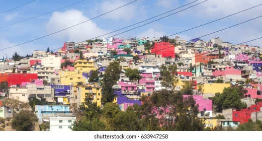 MEXICO CITY - Hilltop favelas.