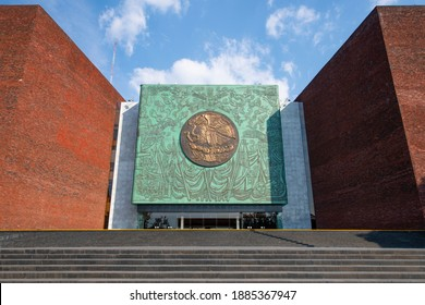 MEXICO CITY - JAN. 15, 2020: Legislative Palace of San Lazaro in Mexico City CDMX, Mexico. This buildin, the seat of the legislative power of the Mexican government, is the Chamber of Deputies.