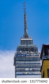 MEXICO CITY, MEXICO - JANUARY 2,  2019 High Rise Latin America Building Mexico City Mexico. Built in 1956 was largest skyscraper in all Latin America