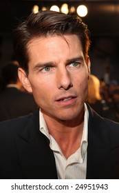 "MEXICO CITY - JANUARY 5, 2009:  Actor Tom Cruise attends the ""Valkyrie"" red carpet premier at Cinemex Santa Fe Mall, Mexico, City, Mexico."