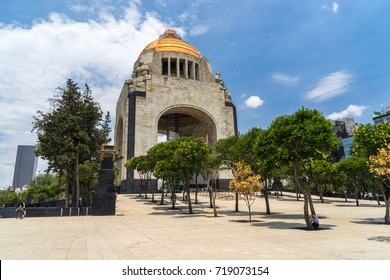 Mexico City, Mexico - Jul 7, 2016: Revolution Monument (Monumento a la Revolucion)