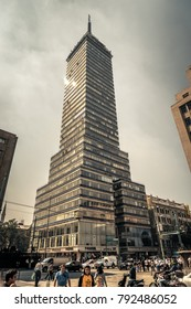 Mexico city, Mexico - Jul 7, 2016: Torre latino americano building