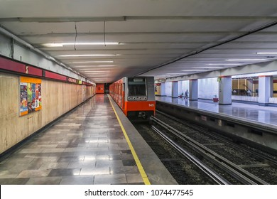 MEXICO CITY - JULY 19, 2015: La Villa-Basilica station (Estacion La Villa-Basilica) is station along Line 6 of the Mexico City Metro.
