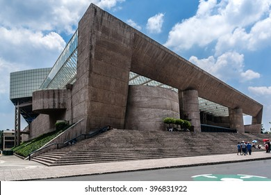 MEXICO CITY - JULY 19, 2015: Auditorio Nacional (National Auditorium, 1952) is an entertainment center at Paseo de la Reforma, Chapultepec, Mexico. There are concerts, art, theatre, dance and more.