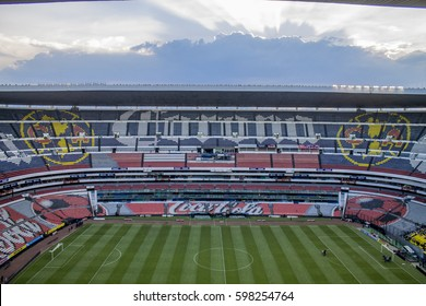 Mexico City, Mexico - July 26, 2014: Azteca stadium panoramic view