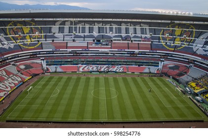 Mexico City, Mexico - July 26, 2014: Azteca stadium panoramic view