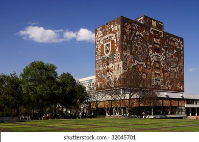 MEXICO CITY – JUNE 15: Shown is Universidad Nacional Autonoma de Mexico, UNAM, on June 15, 2009 in Mexico City. UNAM has been awarded the 2009 Principe de Asturias award.