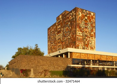 MEXICO CITY â?? JUNE 15: Shown is Universidad Nacional Autonoma de Mexico, UNAM, on June 15, 2009 in Mexico City. UNAM has been awarded the 2009 Principe de Asturias award.