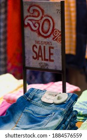 MEXICO CITY - June 27, 2014: Pepe Jeans brand pants in fashion store. Pepe Jeans London is a denim and casual wear jeans brand established in the Portobello Road area in 1973.