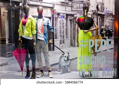 MEXICO CITY - June 27, 2014: Pepe Jeans retail store front. Pepe Jeans London is a denim and casual wear jeans brand established in the Portobello Road area in 1973.