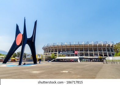 MEXICO CITY - MARCH 24:  Exterior of Azteca Stadium in Mexico City on March 24, 2013.  Azteca Stadium is the home of the Mexican National soccer team