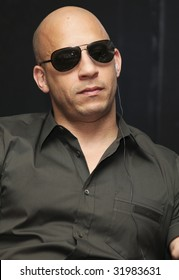 MEXICO CITY - MARCH 27: Actor Vin Diesel attends the 'Fast & Furious' photo call  & press conference at the Marriot Hotel on March 27, 2009 in Mexico City.