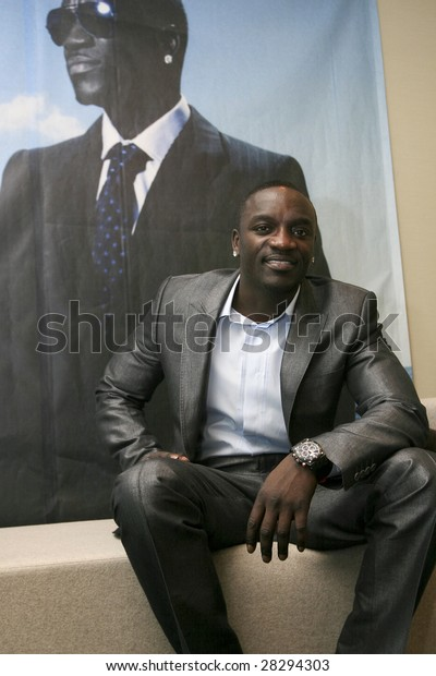 Mexico City March 31 Singerproducer Akon Stock Photo (Edit