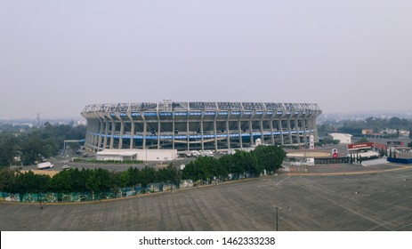 Mexico City, Mexico. May 15th, 2019. The impressive Estadio Azteca in one of the most polluted days in the history of the city.