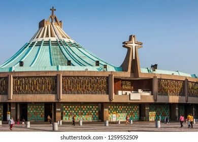 Mexico City. Mexico, may 2018.New Basilica Our Lady of Guadalupe, Mexico City, Mexico