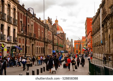 MEXICO CITY, MEX - OCT 27, 2016: Architecture of Mexico City, DF, the capital and most populous city of Mexico