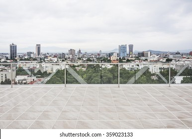 Mexico City, Mexico-May 28, 2015 View of Mexico City from a building