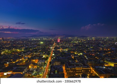 Mexico city at night high definition