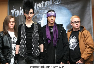"""MEXICO CITY- NOV 10: Members of German band """"Tokio Hotel"""" attend the Photo-Call at Presidente Intercontinental Hotel Mexico on November 10, 2009 in Mexico City, Mexico."""