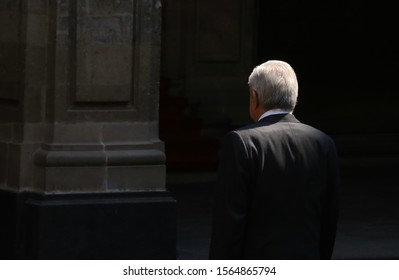 Mexico City, Mexico November 19th 2019. Andrés Manuel López Obrador mexican president in Palacio Nacional.