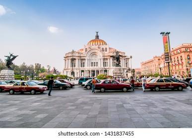 Mexico City, Mexico - November 29, 2010. Famous building of Palacio Bellas Artes, Palace of Art