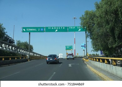 MEXICO CITY, MEXICO - NOVEMBER 5 2017 - Mexican metropolis with more than 25 milions of inhabitants mexico city street are every day a traffic jam