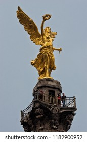 Mexico City -October 31, 2016: The Angel of Independence against the sky in Mexico City, Mexico.