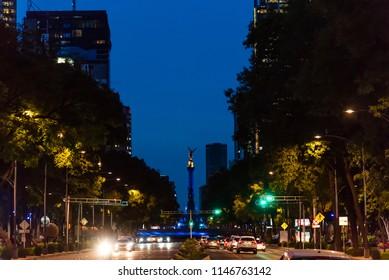 Mexico City - Reforma skyscrapers night scene